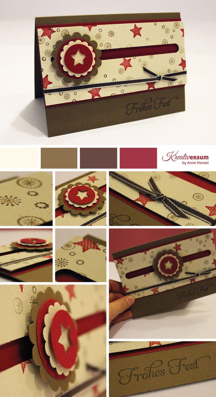 Kullerkarte Merry Minis in Waldhimbeere, Wildleder und Elfenbein