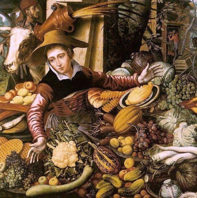 Pieter Aertsen (Dutch Northern Renaissance Painter, c 1508-1575) Market Woman