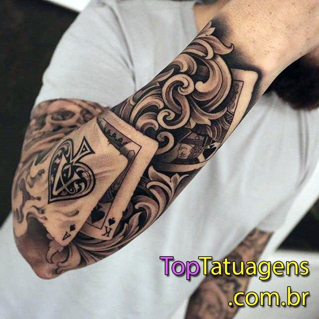 100 Male Tattoos On The Arm Tatuaje Cartas Tatuajes