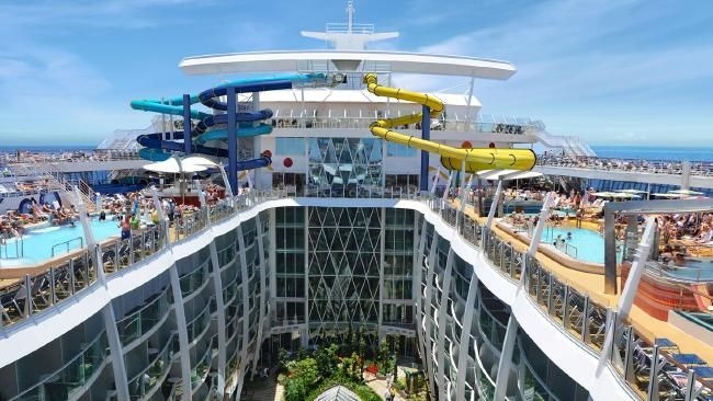 Royal Caribbean International cruise line has unveiled the tallest slide at sea, The Ultimate Abyss #travel #holiday #cruise