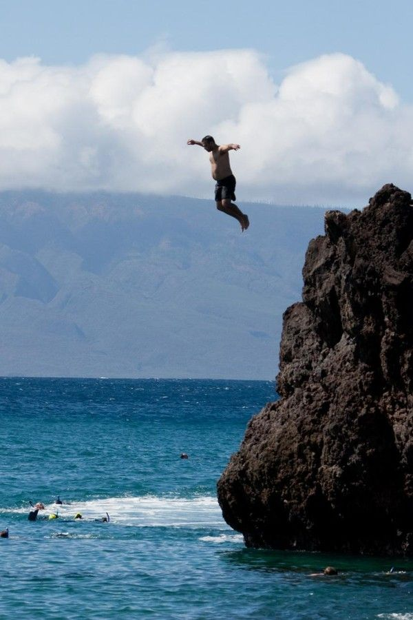 Jeremiah cliff jumping wailea photo credit subtle devices foter cc by nc nd hawaii - Highest cliff dive ever ...