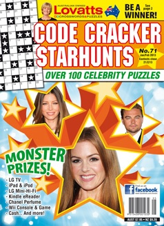 Starhunts - Especially for movie fans -Our most popular puzzles and each issue contains over 100 Starhunts plus a selection of giant crosswords and brain teasers. Just like classic crosswords, the answers are placed across and down in a grid, but the word clues have been replaced with a number code