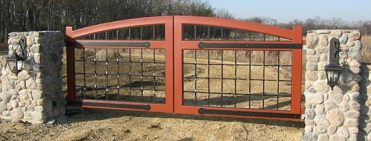 Best 25 Metal Driveway Gates Ideas On Pinterest Iron