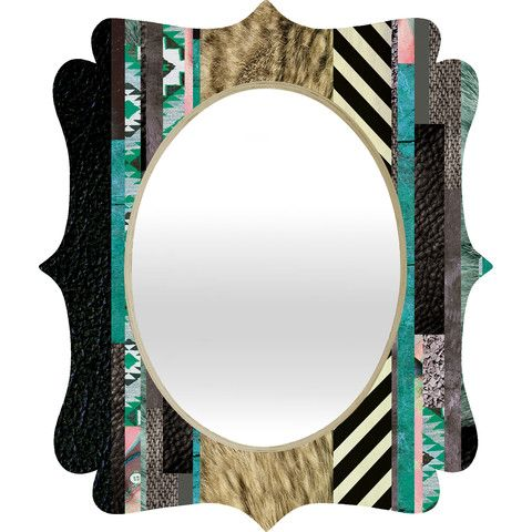 Kei Eudoxie Quatrefoil Mirror #city #style #black #white #modern #graphic #home #decor