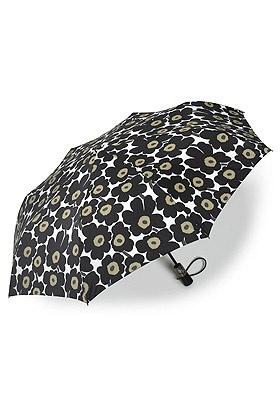 marimekko black unikko umbrella
