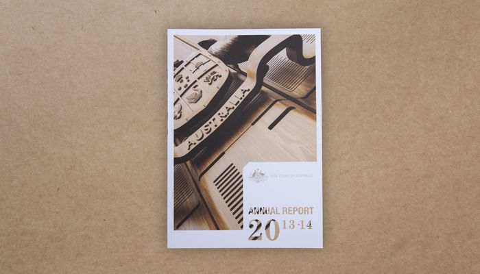 High Court of Australia Annual Report 2013–14 design http://www.spectrumgraphics.com.au/