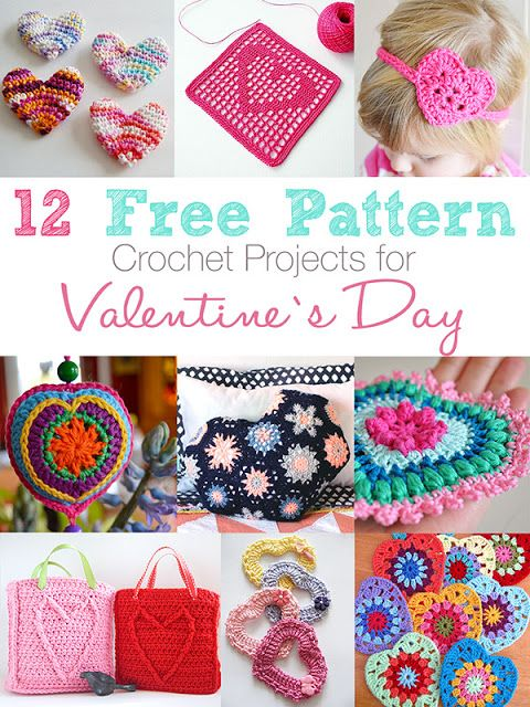 Anabelia craft design: 12 Free pattern crochet projects for Valentine's D...