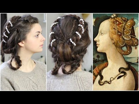 Renaissance hair & makeup inspired by Simonetta Vespucci