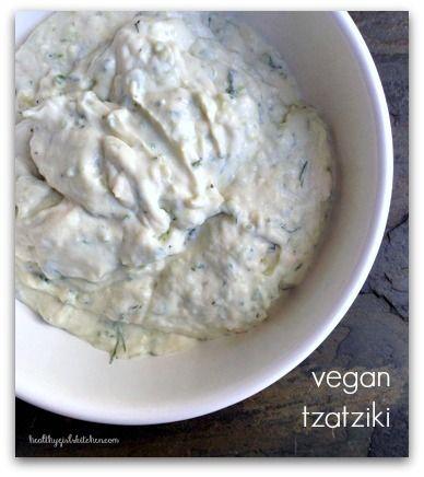 Healthy Girl's Kitchen: Vegan Tzatziki Sauce. OMG Good.