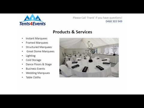 Tents 4 Events have over 20 years experience in the event hire industry. We strives to make all events big or small successful. Our knowledge and commitment to provide our customers with hassle free service and the best products available to make their party successful. For more information, please contact us.Tents4Events, 8a Mendooran court, Oxenford QLD 4210, Phone: 0468 303 949, www.Tents4events.com.au