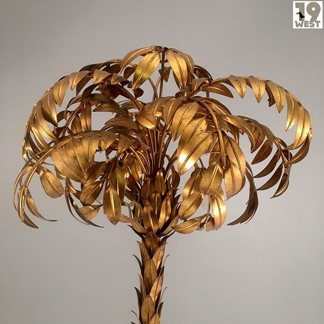 A Gilded Hans Kogl Palm Tree Lamp From The 1970 S Available On Www 19west De More Info Here Https Bit Ly 2g8rfvi Tree Lamp Lamp Ceiling Lights
