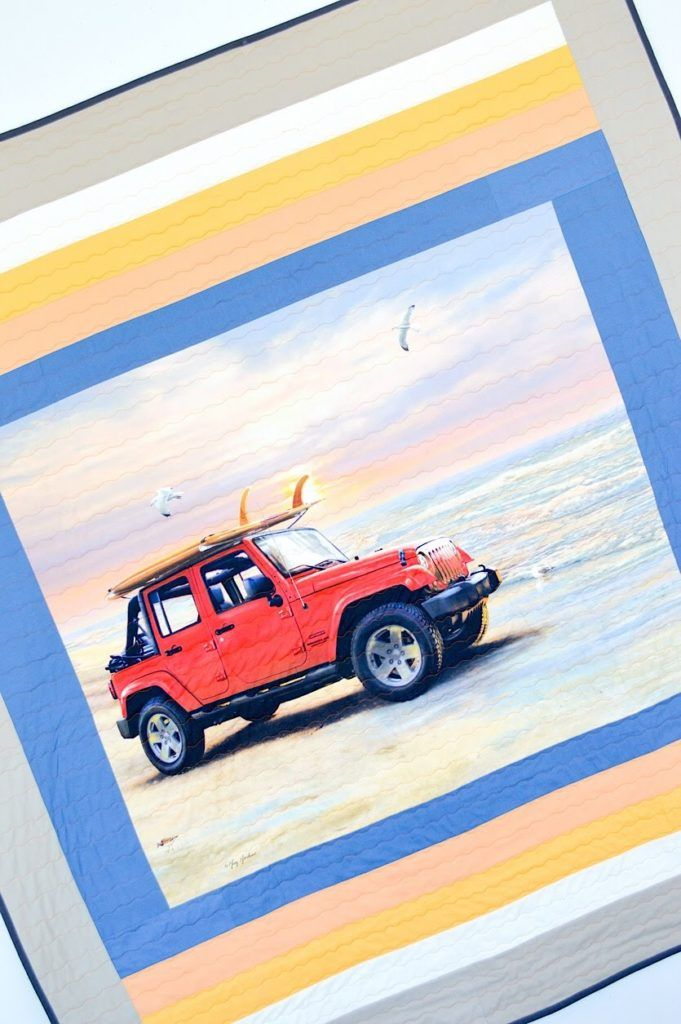 Jeep At Sunrise Quilt Tutorial Riley Blake Designs With Images