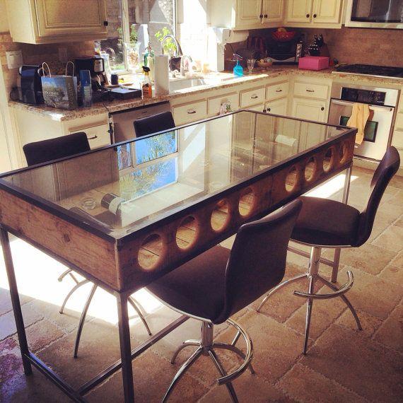 Handmade Wine Rack Island Breakfast Bar On Etsy, $1,699.99 Made In Downtown Los  Angeles,