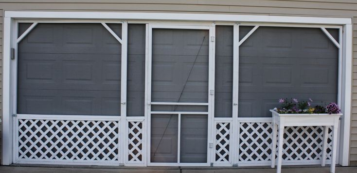 17 best images about garage on pinterest - Single car garage door screen ...