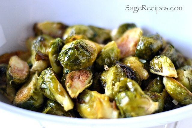 Probably the best acid reflux recipe I've ever found because of it's benefits - roasted brussels sprouts with a cider vinegar sauce