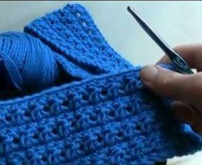 Criss Cross Crochet Stitch: #free #crochet video lesson