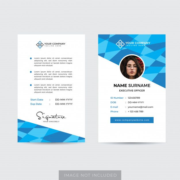 Professional Identity Card Template Card Template Id Card Template Templates