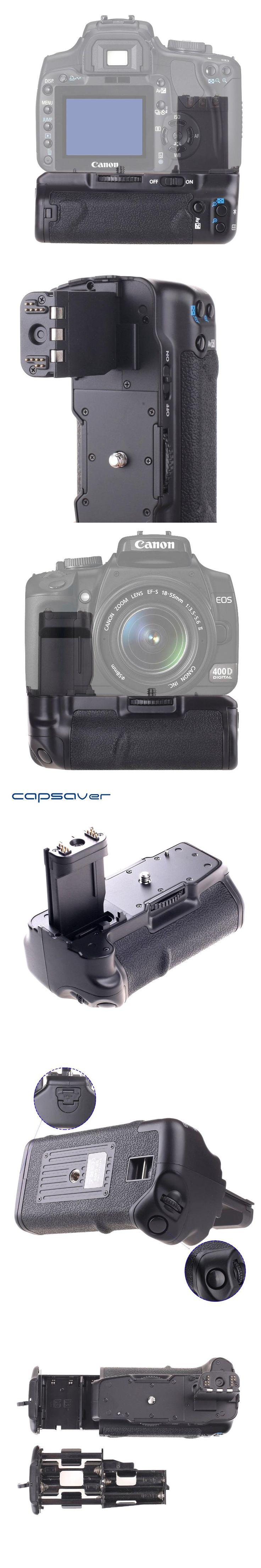 capsaver Vertical Battery Grip Holder for Canon 400D 350D Rebel XT Xti Replacement for BG-E3 Battery Handgrip IR Remote Control