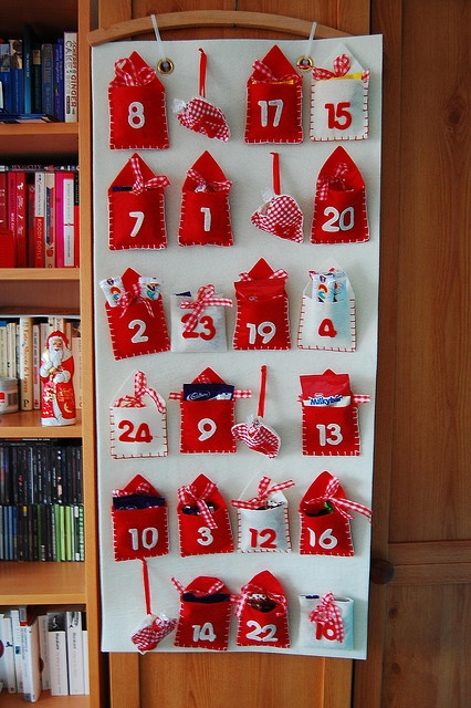 I like the pouches on this advent calendar.