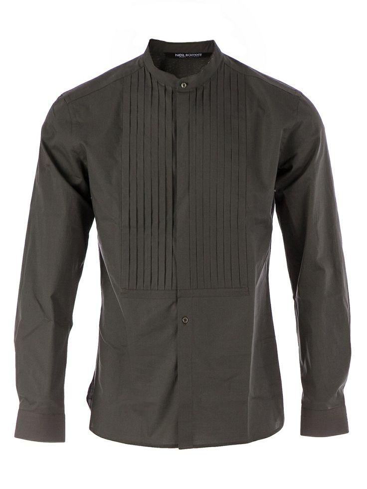 Men - Neil Barrett Mandarin Collar Shirt - L'Eclaireur Shop