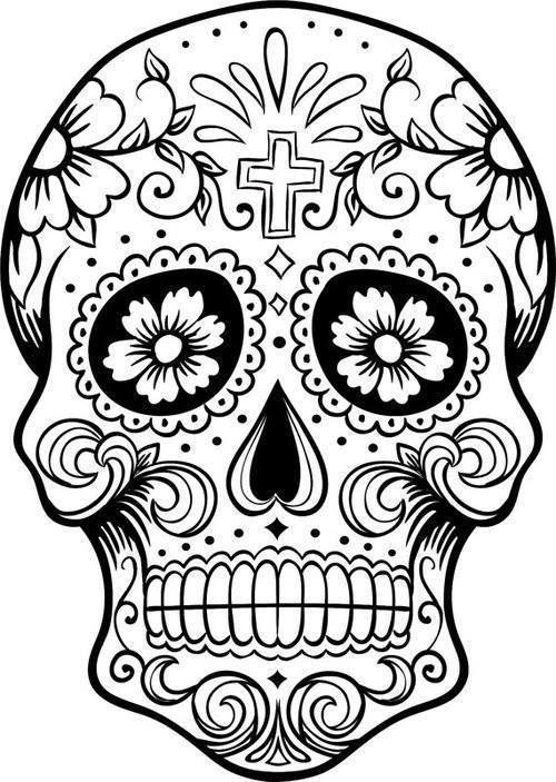 Dibujos para colorear el día de los muertos (16)