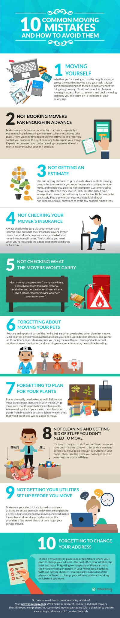 10 Common Moving Mistakes .. and How to Avoid Them.  #moving #movingtips