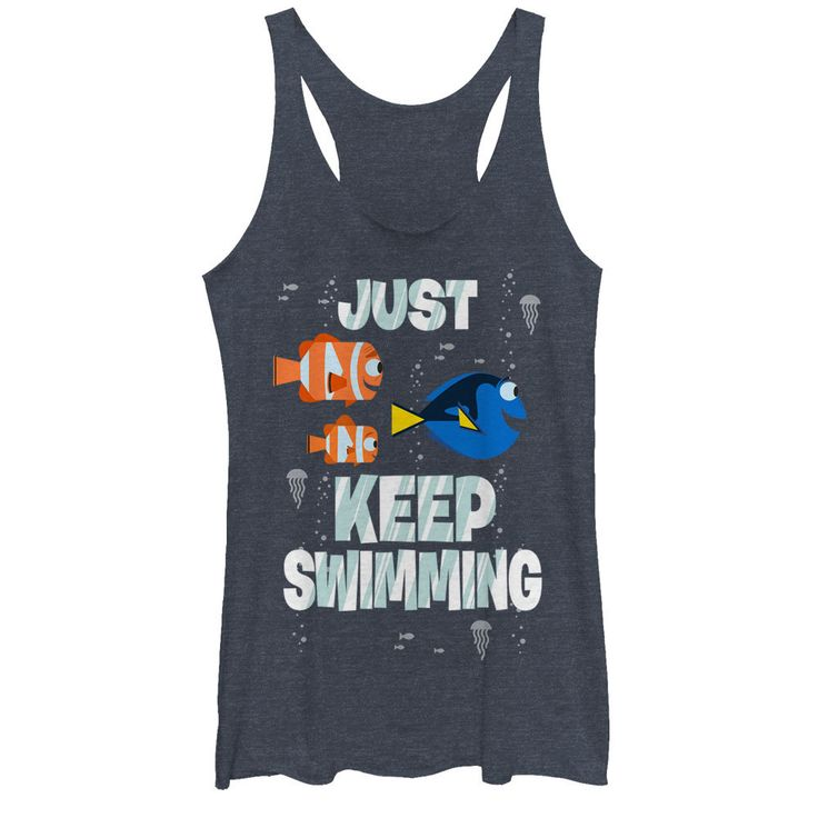 Finding Dory Womens Tank Tops - Just Swimming - NerdKungFu