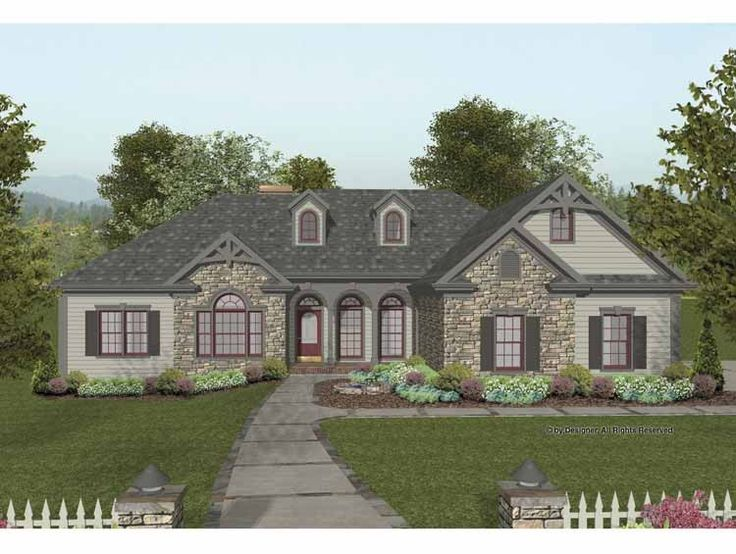 22 best house plans images on pinterest country home for Craftsman house plans 2000 square feet