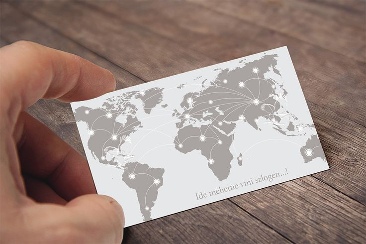 Business Card Back - New Version with Gray Map