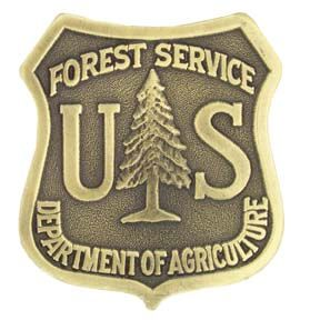 US Forest Service Brass Plated Shield Medallion