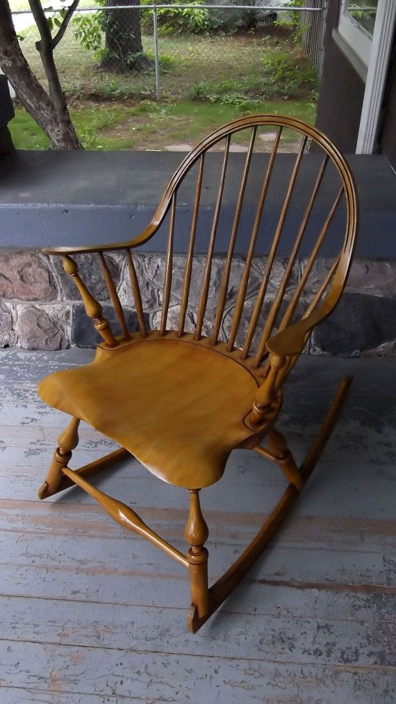 Continuous Arm Windsor Rocking Chair By Luke A. Barnett Of Barnett Chairs