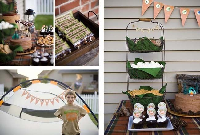 Camping Themed Boys Birthday Party Ideas www.spaceshipsandlaserbeams.com