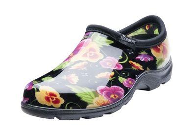 Women's Rain & Garden Shoe - Black Pansy
