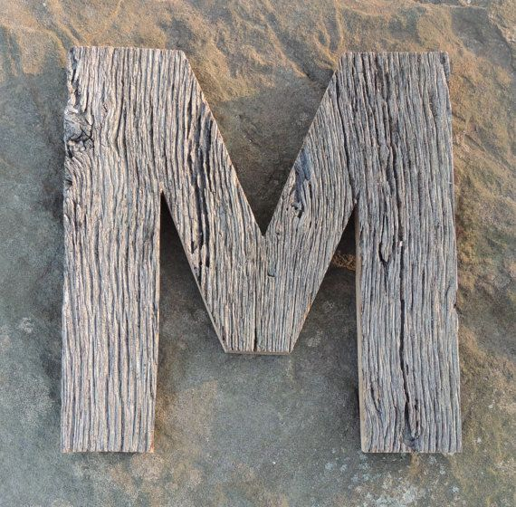 centuryold barn wood letter m 12 inches tall by freestatecrates 3400 m is for michele barn wood wood letters wood