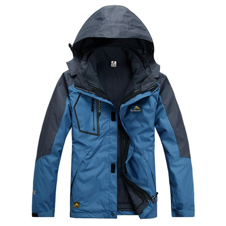 High Quality 3 In 1 Men Outdoors Winter Water Resistant Coats Jacket Outerwear Hoodied Climb Snow Windstopper Jackets