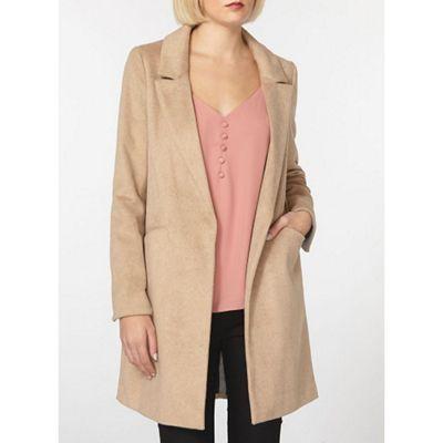 Dorothy Perkins Camel classic crombie coat | Debenhams