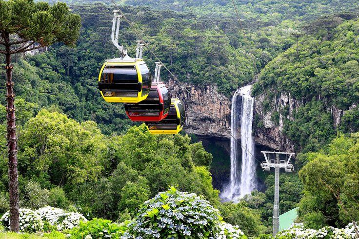 Bondinhos Aéreos - Parques da Serra - Canela, RS   #canela #serragaucha #riograndedosul #brasil #brazil   parquesdaserra.com.br/