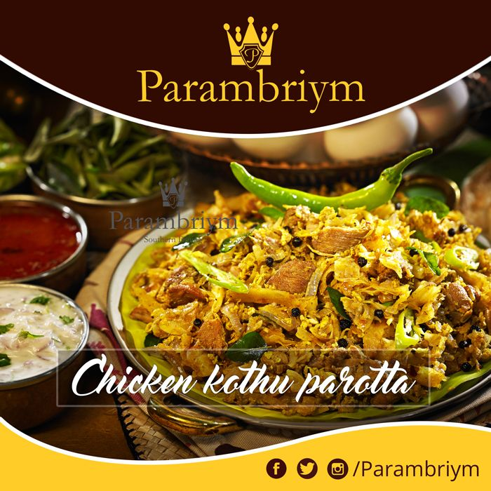 Classic never fails. Indulge in this delightful treat of parambriym special chicken kothu parotta #traditional #foodie #parambriym
