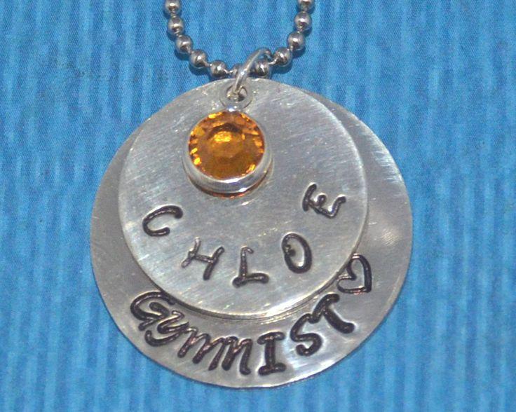 Gymnastics Gifts   Gymnastics Jewelry Necklaces   Daughter Gift   Gymnastics Charm   Gymnastics Team Gift   Granddaughter Gift   Gymnastics by charmedbykobe on Etsy