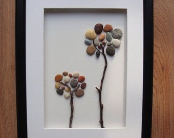 Pebble Art Picture, Pebble Tree, Unique Gift, Nature Lover Gift, Home Decor, Wall Art, Birthday Gift, Family Gift, Secret Life Of Pebbles
