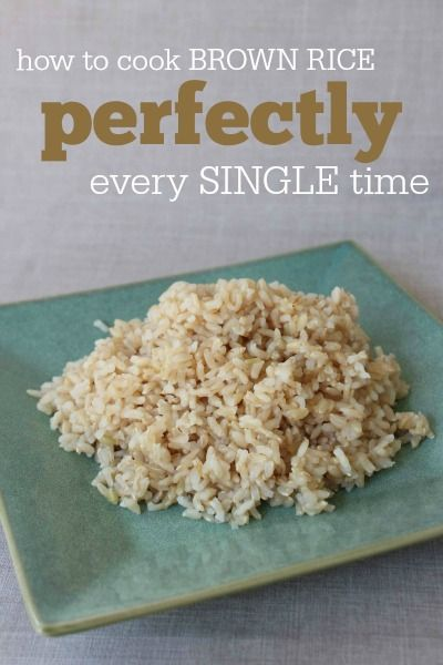 How to cook brown rice perfectly every single time -- totally foolproof instructions!