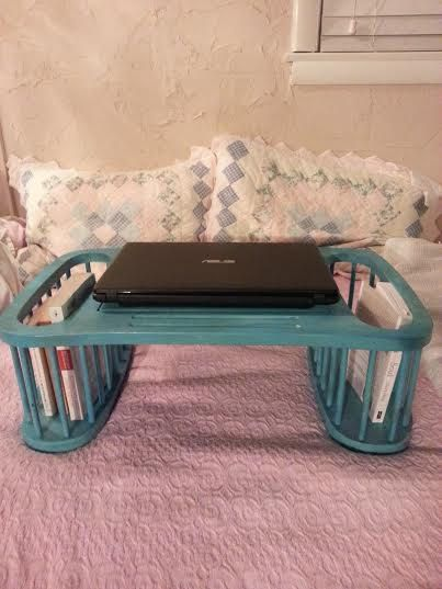 Turquoise Lap Desk - Lap Desk - Lap Tray - Breakfast Tray -  Portable desk - laptop table - desk for bed - laptop desk - laptop desk by MyHailiesHaven on Etsy