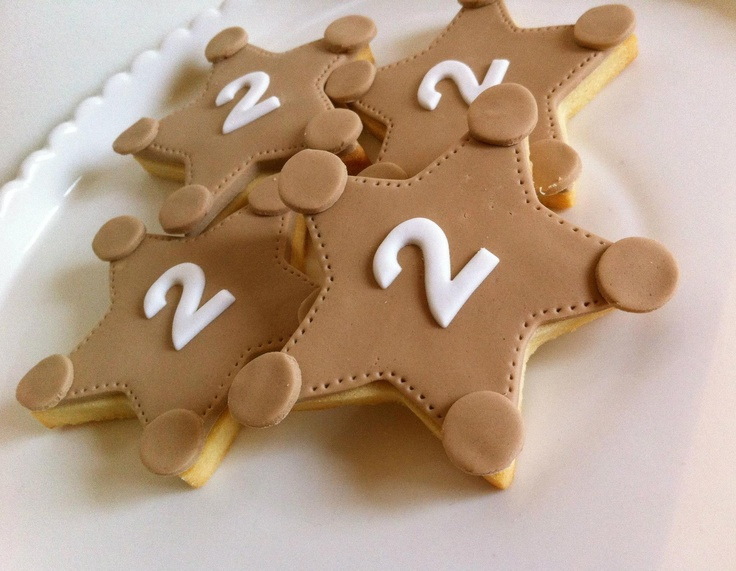 cookies by CAKE ENVY   Perfect for sheriff woody badges for toy story party