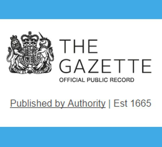 """""""The London Gazette is an official newspaper of record for the United Kingdom, published by H. M. Stationery Office It contains legal and government notices, including notices of military honors and awards."""" The Gazette Archive includes the Belfast and Edinburgh Gazette's as well."""