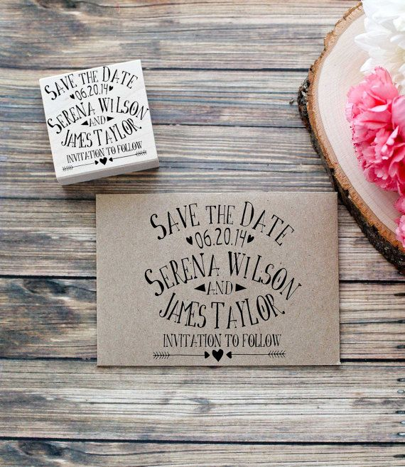 Customized  Save the Date Wedding Stamp
