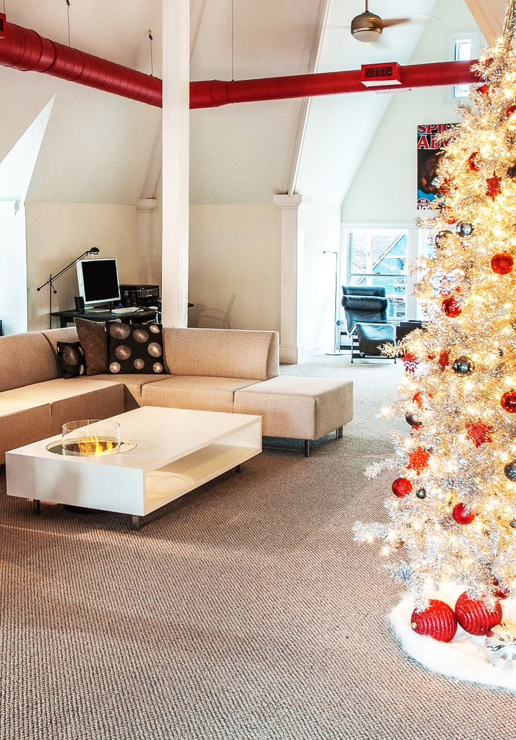 Our friendly clients from Valley City in Ohio have just sent us several photos of the Coffee Fire Long bioethanol fireplace by Planika. The photos were taken in their private residence in the USA. We absolutely love the apartment, the Christmas tree, the colours and of course the fireplace, adding warmth to the interior.