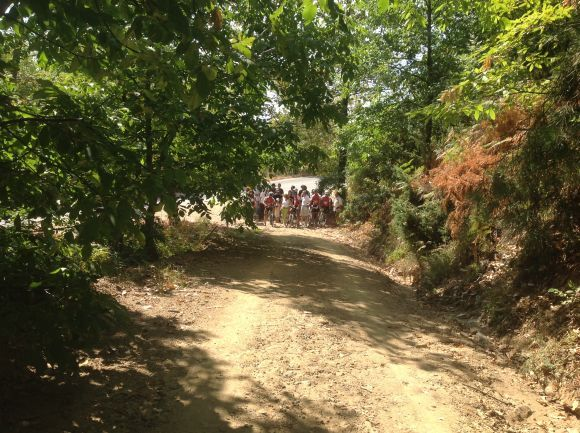 """Aristotle's Walk,"" the first of eight historically-based 22km trails in the #Chalkidiki peninsula following the shady paths of the Aristotelian Mountain, overlooking the sea, the Akanthian and Strymonic Gulfs."