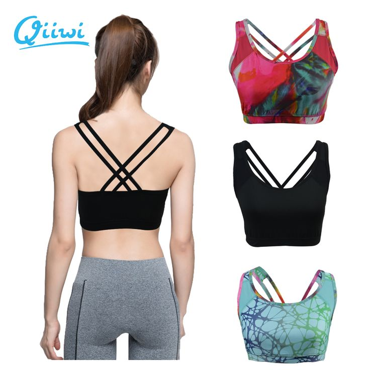 Professional Sports Bra Cross Back Cropped for Women Fitness Gym Workout Running Exercises Train Sujetador Deportivo with padded ** AliExpress Affiliate's buyable pin. Item can be found  on www.aliexpress.com by clicking the image