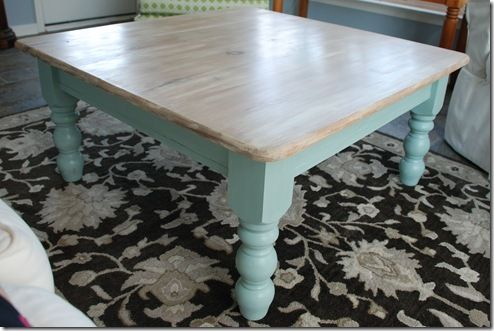 Pine coffee table in Duck Egg and Old White Annie Sloan Chalk Paint