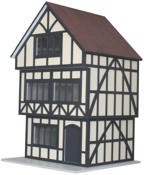 Scale Tudor Ready to Assemble Unpainted Dolls House